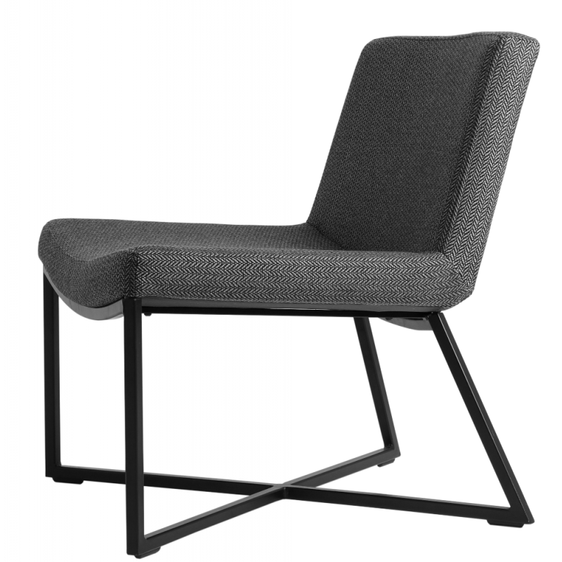 Custom Form Zero Armchair Dark Grey Black Metal