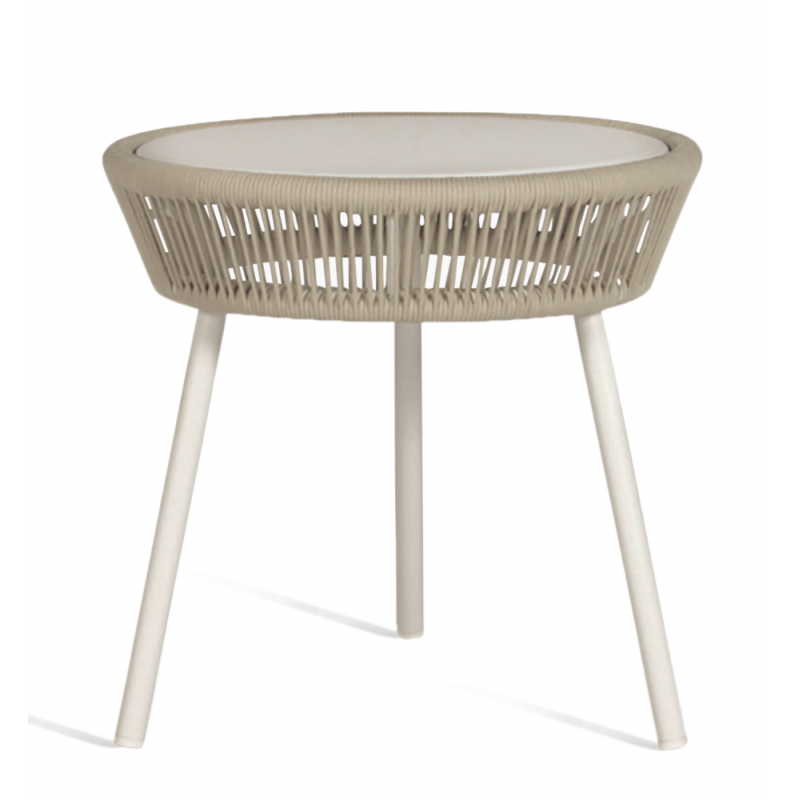 Vincent Sheppard Loop Side Table Beige White Stone