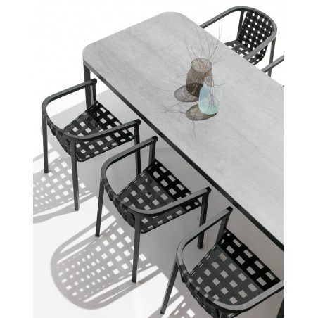Todus Duct Outdoor Dining Table Ceramic Top 220 CM
