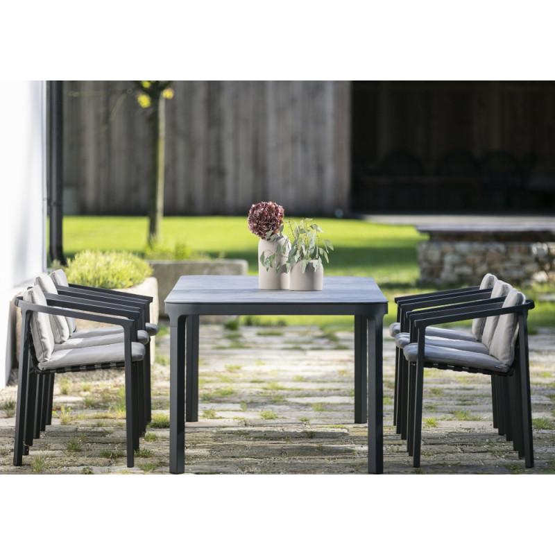 Todus Duct Outdoor Dining Table Ceramic Top 220 CM