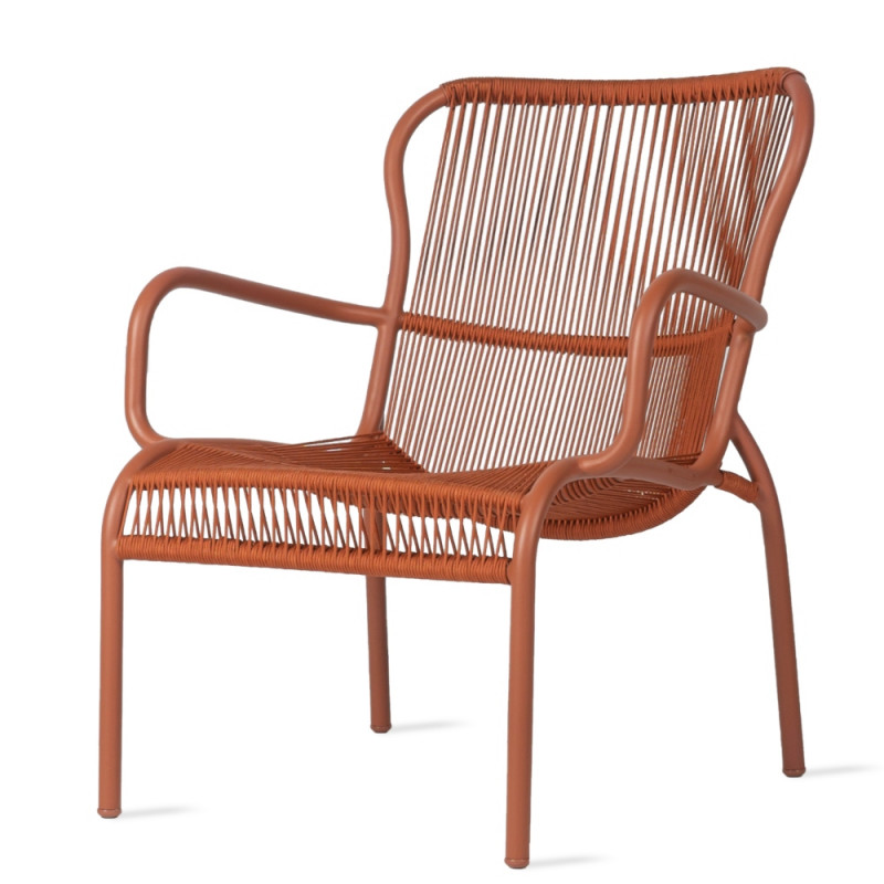 Vincent Sheppard Loop Lounge Chair in Terracota