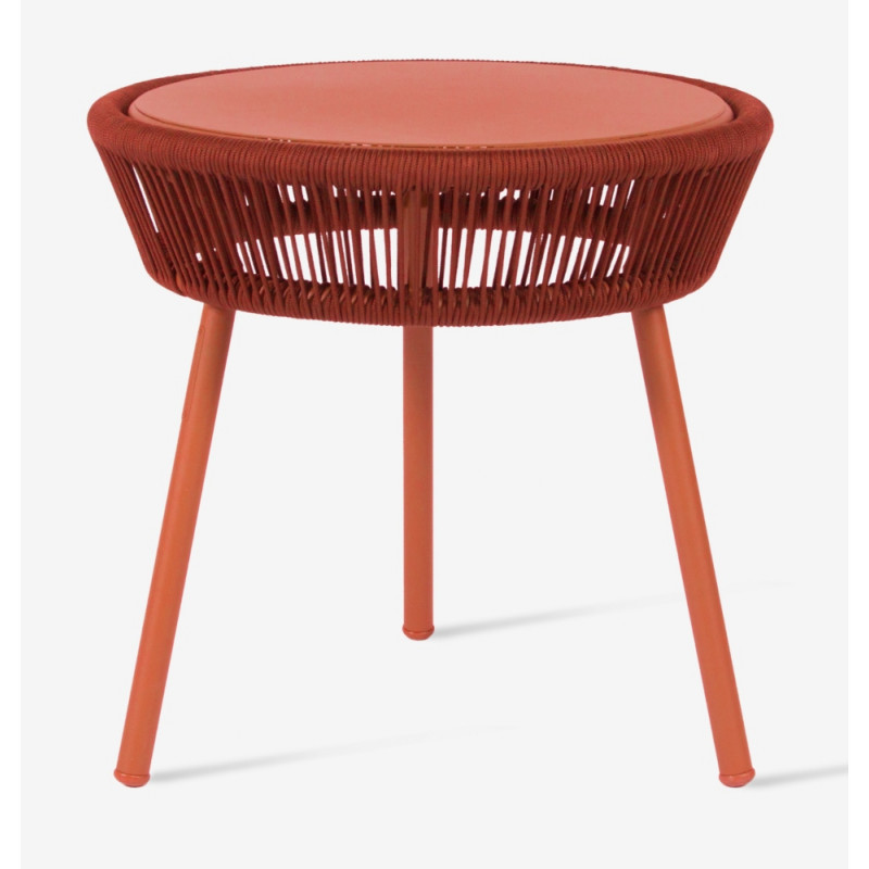Vincent Sheppard Loop Outdoor Side Table Terracotta