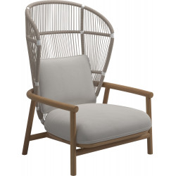 Gloster Fern Lounge Chair Dune | High Back