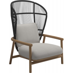 Gloster Fern Lounge Chair Raven | High Back
