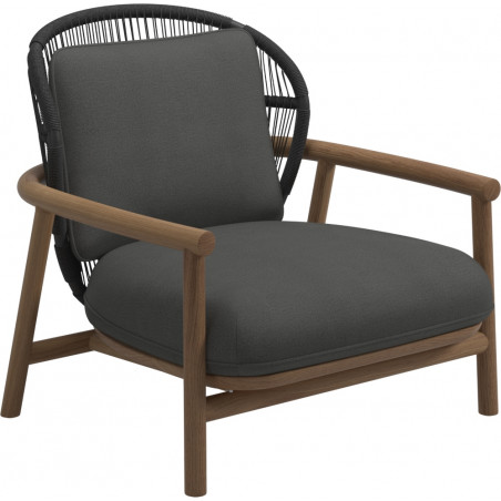 Gloster Fern Lounge Chair Raven | Low Back