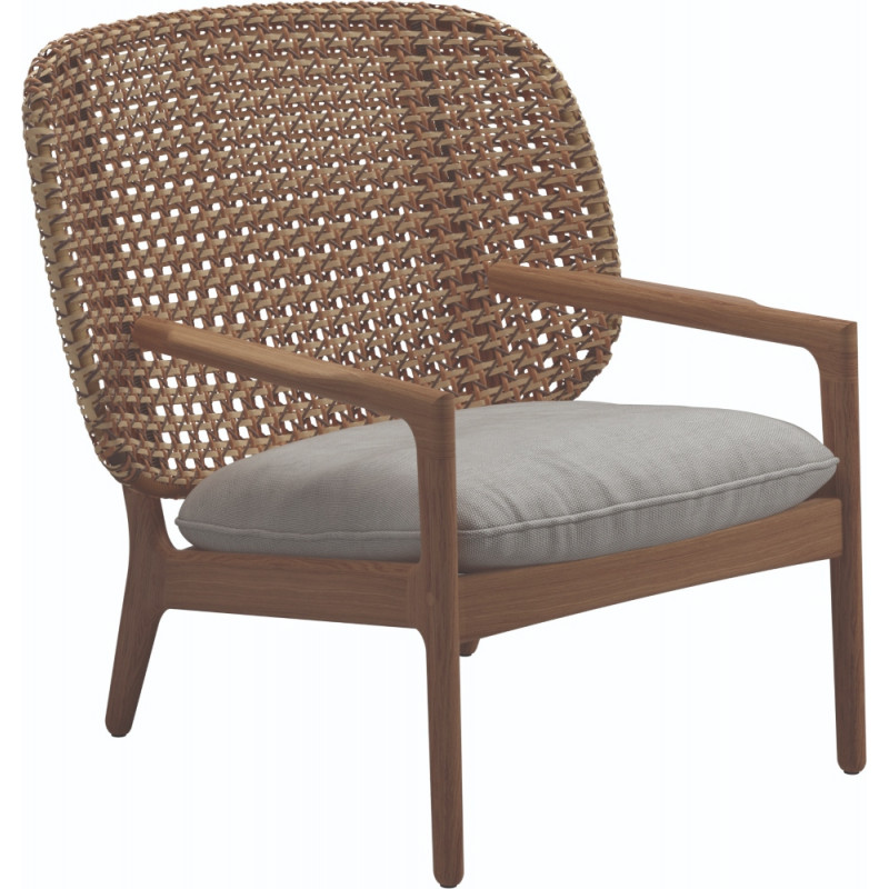 Gloster Kay Low Back Lounge Chair | Harvest Weaving