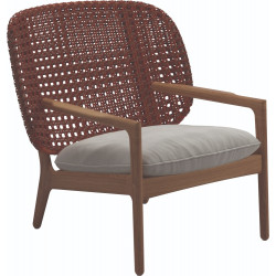 Gloster Kay Low Back Lounge Chair   Copper Weaving