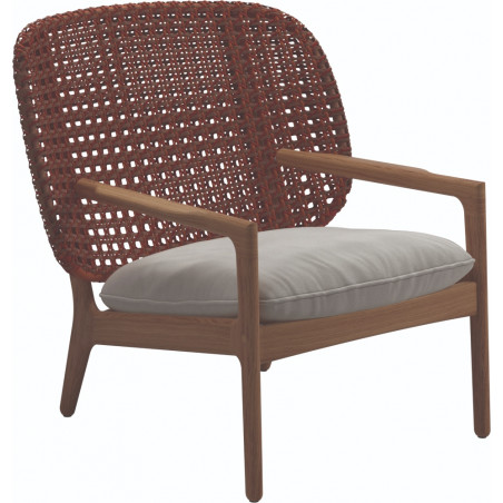 Gloster Kay Low Back Lounge Chair | Copper Weaving