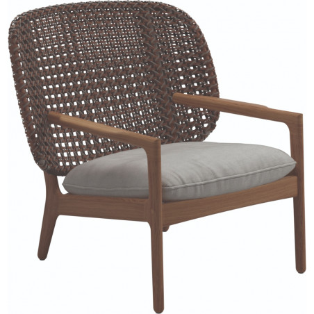 Gloster Katy Low Back Lounge Chair | Brindle Weaving