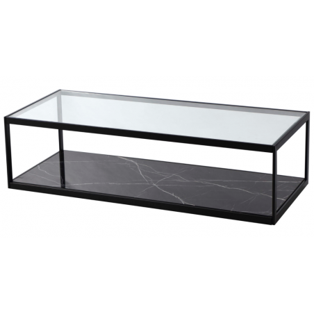 Liang & Eimil Tamon Coffee Table Glass Black Marble