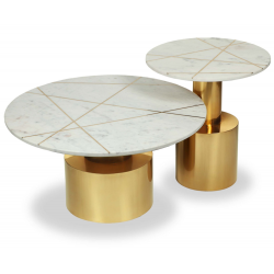 Liang & Eimil Havana Coffee Table Marble and Brass