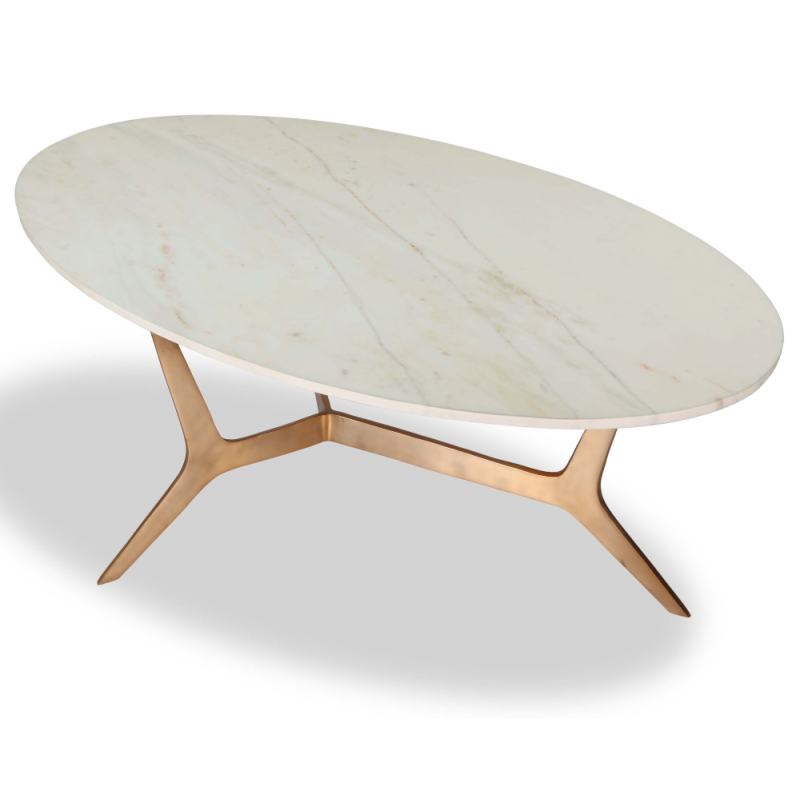 Liang & Eimil Dublin Coffee Table Oval Marble Top