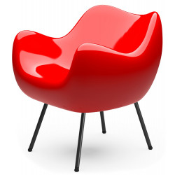 RM58 Armchair Classic Glossy Red by Vzor