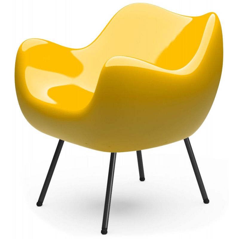RM58 Armchair Classic Glossy Yellow By Vzor