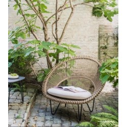 Vincent Sheppard Roy Cocoon Garden Chair Camel with Cushion