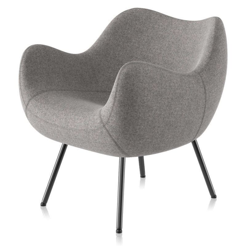 Vzor RM58 Chair Soft Upholstered in Woolen Fabric