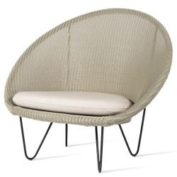 Vincent Sheppard Gigi Cocoon Garden Chair Black Legs