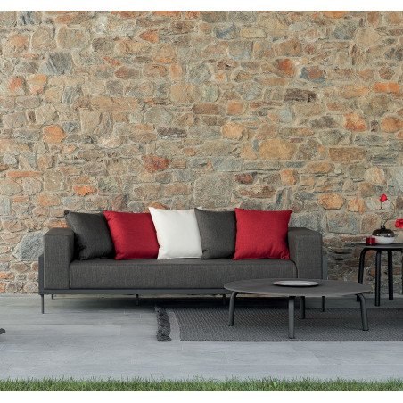 Talenti Cleo Alu 3 Seater Garden Sofa Graphite| Dark Grey Cushions