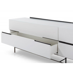 Alberto Four Drawer Low Sideboard