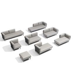 Todus Baza Modular Right Corner backrest   Seat 160 cm