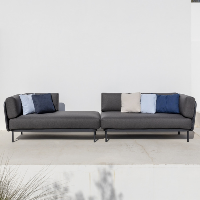Todus Baza Modular Left Corner backrest | Seat 160 cm