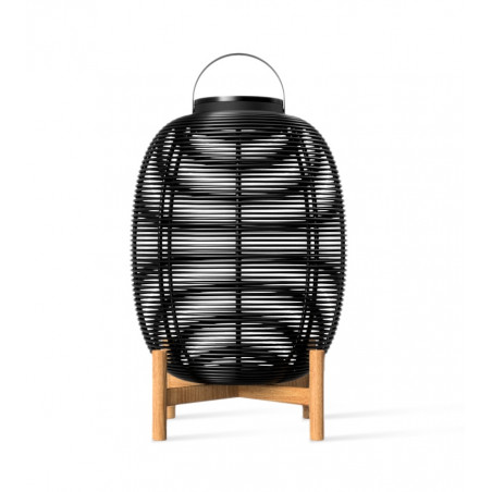 Vincent Sheppard Tika Solar Outdoor Lantern Black Teak Base