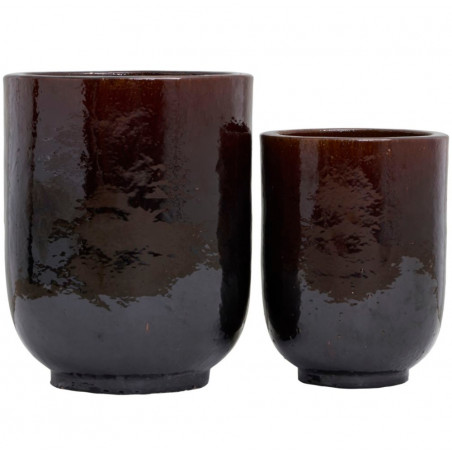 House Doctor Pho Planters Brown Set of 2