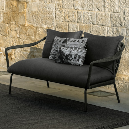 Talenti Cruise Alu Outdoor Love Seat in Graphite
