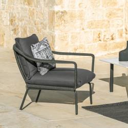 Talenti Cruise Alu Lounge Chair in Graphite
