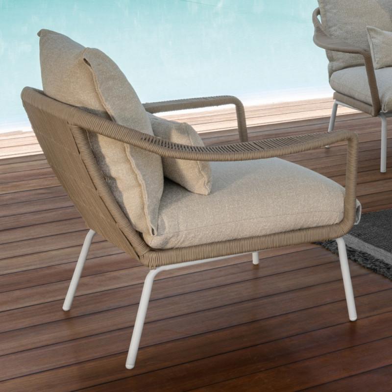 Talenti Cruise Alu Lounge Chair White Beige