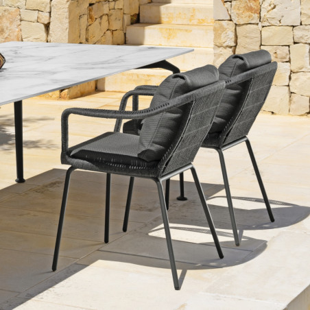 Talenti Cruise Alu Outdoor Dining Chair Graphite Dark Grey