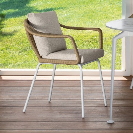 Talenti Cruise Alu Outdoor Dining Chair White Sand