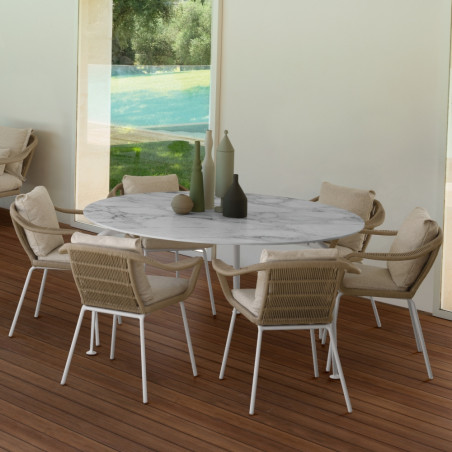 Talenti Cruise Alu Dining Table Round 150 cm