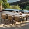 Talenti Cruise Outdoor Dining Chair Rope Teak