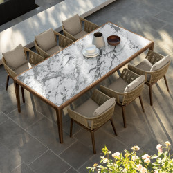 Talenti Cruise Dining Table with Calacatta Top 240 cm x 110 cm