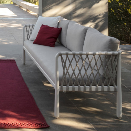 Talenti Sofy Outdoor Sofa White Soft Grey