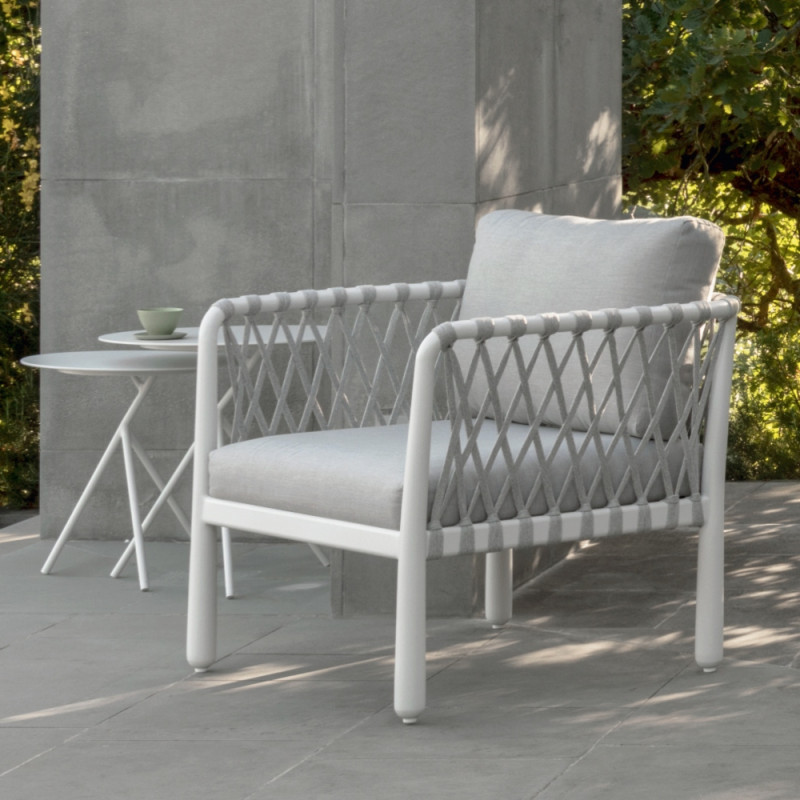 Talenti Sofy Outdoor Armchair White Soft Grey