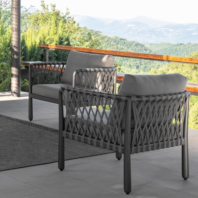 Talenti Sofy Outdoor Armchair Carbon Dark Grey