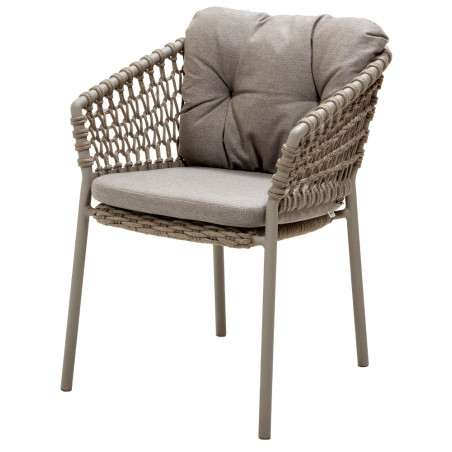 Cane-Line Ocean Outdoor Dining Chair Soft Rope Taupe