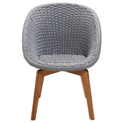 Cane-Line Peacock Outdoor Chair Soft Rope Light Grey