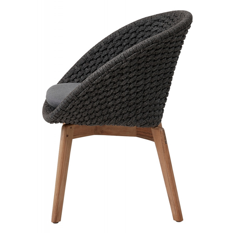 Cane-Line Peacock Outdoor Chair Soft Rope Dark Grey