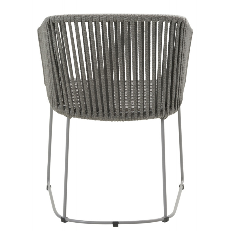 Cane-Line Moments Outdoor Dining Chair Soft Rope Grey