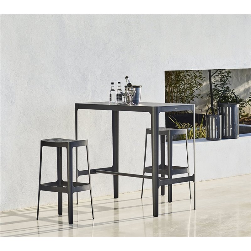 Cane-Line Cut Bar Table in Black