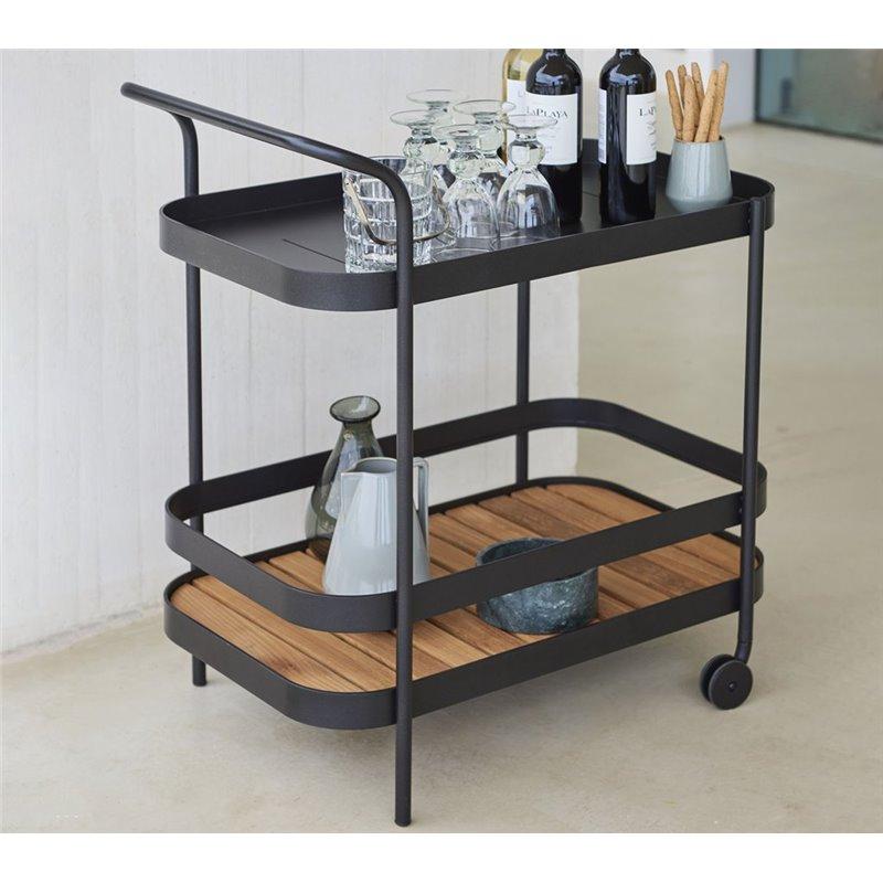 Cane-Line Roll bar trolley Lava Grey