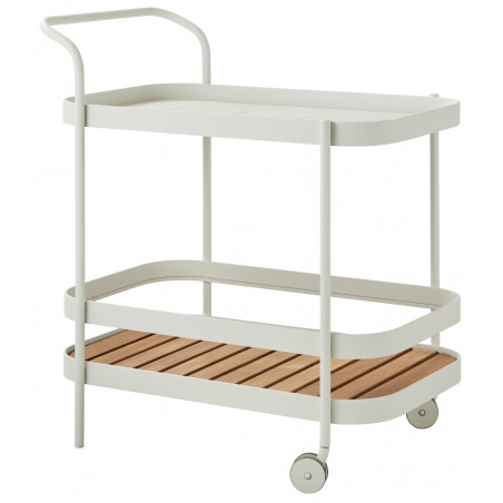 Cane-Line Roll bar trolley White