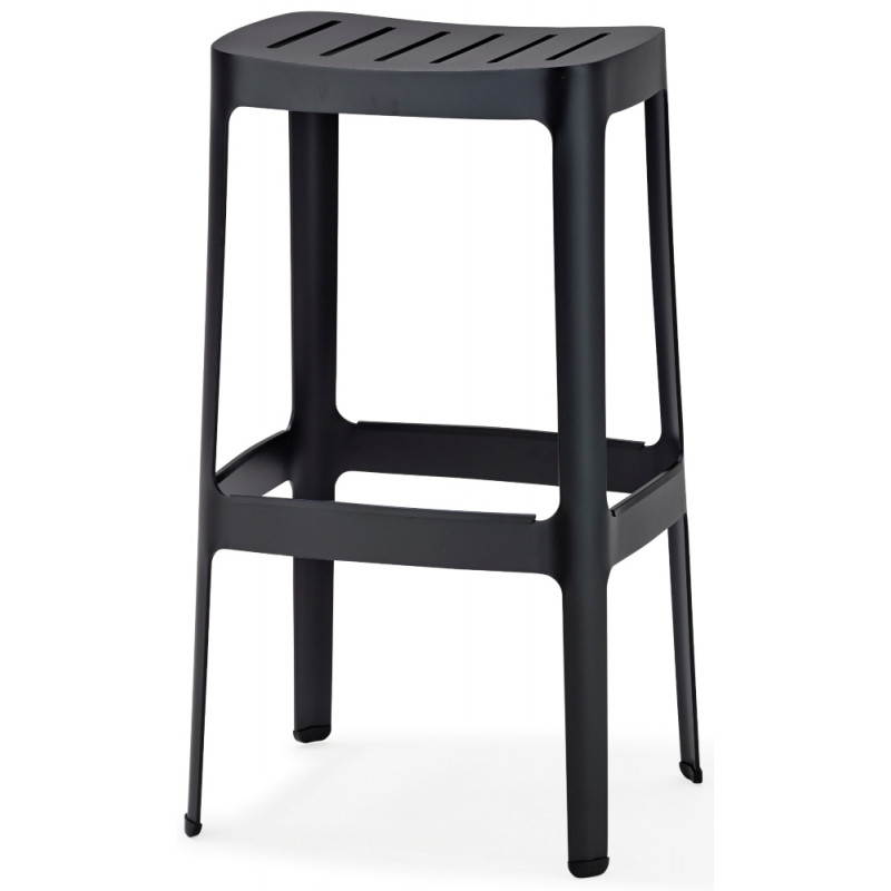 Cane-Line Cut Bar Chair in Black