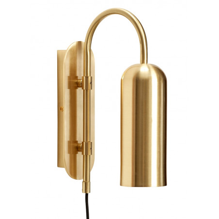 Hubsch Brass Wall Lamp Oblong Shape