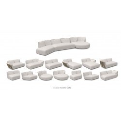 Talenti Scacco Modular Oblique Right Sofa 155 CM x 101 CM