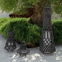 Talenti Tribal Large Outdoor Floor Lamp