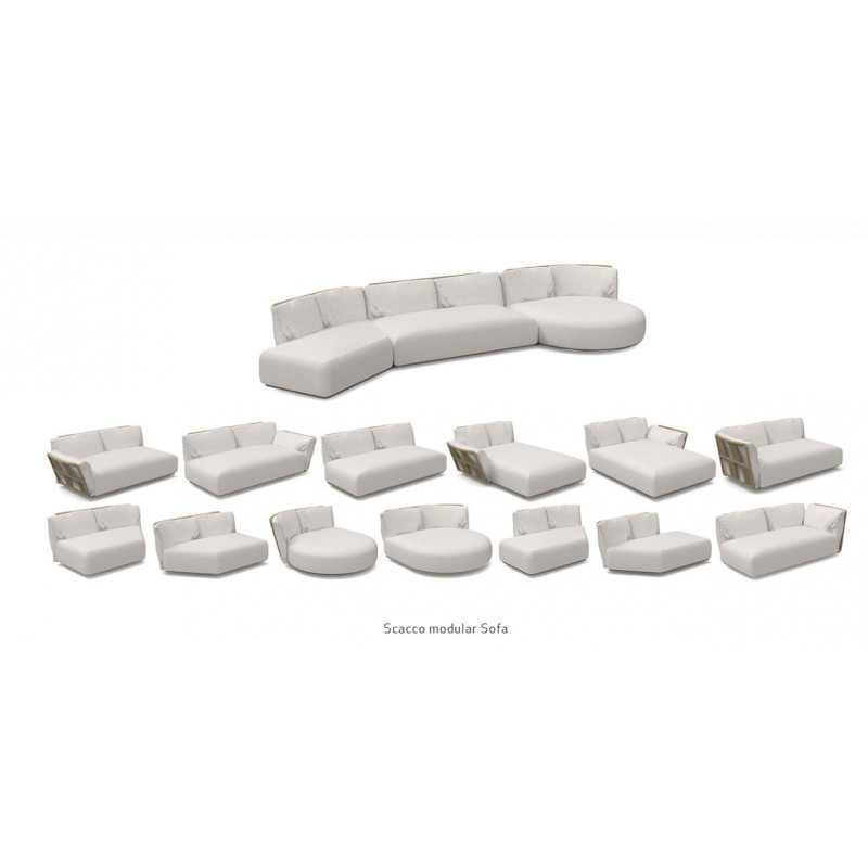 Talenti Scacco Modular Oblique Left Sofa 155 CM x 101 CM